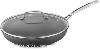 Cuisinart 622-30G Chef's Classic Nonstick Hard-Anodized 12-Inch Skillet with Glass Cover Black