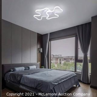 HELYCH Modern Flush Mount LED Ceiling Light Fixture with Remote Control 23 Inch 38W Dimmable LED Ceiling Lights for Living Room Bedroom Dining Room Close to Ceiling Light Fixtures 3000K-6000K