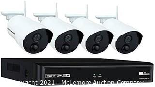 Night Owl Camera System 4 Channel 1080p Wireless Smart Security Hub White (WNVR201-44P-B)