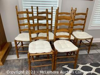 (6) Farmhouse Chairs with Rush Seats