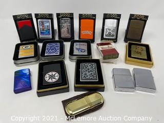 Collection of Zippo Lighters and Others