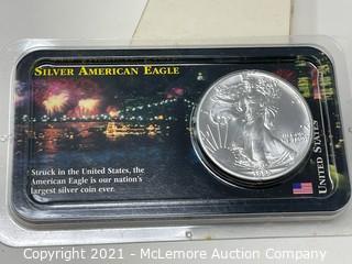1989 Silver American Eagle Fine Silver Dollar