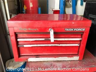 Task Force Metal 3 Drawer Tool Chest with Contents