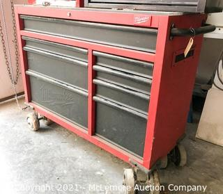 Milwaukee 8 Drawer Tool Cabinet on Casters with Built in Electric and Casters