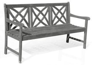 Vifah Renaissance 5 ft. Patio Bench - MSRP $195 - NEW IN BOX