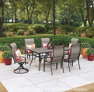 Style Selections 7-Piece Brown Frame Patio Set with Tan