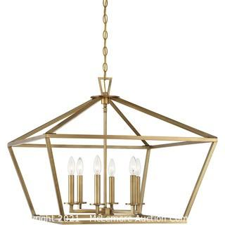 Savoy House 3-325-6-322 Townsend 6 Light 26 inch Warm Brass Foyer Ceiling Light