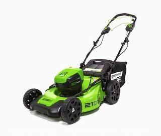 Greenworks Pro 60-volt Brushless Lithium Ion Self-propelled 21-in Cordless Electric Lawn Mower - USED & TESTED