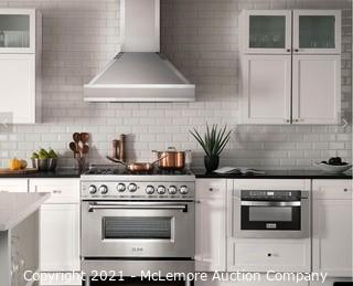 """ZLINE 36"""" Professional 4.6 cu. ft. 6 Gas on Gas Range in Stainless Steel NEW IN BOX MSRP:$2900"""
