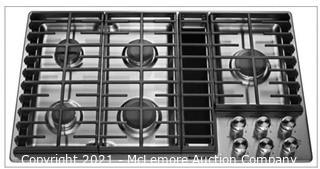 KitchenAid 36-in 5 Burner Stainless Steel Gas Cooktop with Built-in Downdraft Exhaust MSRP:$2249  NEW IN BOX