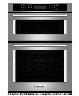 KITCHENAID 30 in. Electric Even-Heat True Convection Wall Oven with Built-In Microwave in Stainless Steel MSRP:$3800  NEW IN BOX
