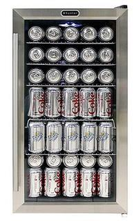 Whynter BR-130SB Beverage Refrigerator with Internal Fan Black/Stainless Steel MSRP:$280 OPEN BOX APPEARS NEW