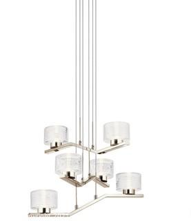 Kichler 44347PNLED<br>Lasus LED 23 inch Polished Nickel Chandelier 1 Tier Small Ceiling Light 1 Tier Small - OPEN BOX Appears Complete