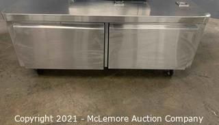 53 INCH STAINLESS STEEL 2 DRAWER EQUIPMENT CABINET  - USED GOOD CONDITION