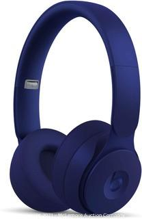 Beats Solo Pro Wireless Noise Cancelling On-Ear Headphones - Apple H1 Headphone Chip Class 1 Bluetooth Active Noise Cancelling Transparency 22 Hours of Listening Time - Dark Blue