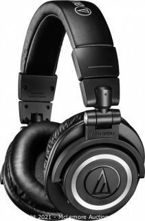 Audio-Technica ATHM50XBT Wireless Bluetooth Over-Ear Headphones Black