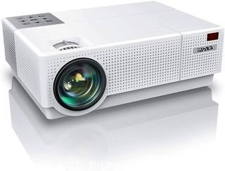 YABER Y31 Native 1920x 1080P Projector 8500L Upgrade Full HD Video Projector �50� 4D Keystone Correction Support 4K LCD LED Home Theater Projector Compatible with PhonePCTV BoxPS4 (White)