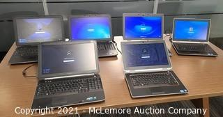(6) Dell Latitude Laptops with Power Cords