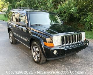 2008JeepCommanderwith a3.7L V6 SOHC 12VEngine, Rocky Mountain Edition VIN: 1J8HG48K98C181985