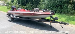 2000 Aries 200XTE Fiberglass Fishing Boat with Mercy 200 Outboard Includes Trailer
