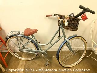Raleigh Gala Bicycle with Font Basket and Rear Rack and Hand Pump