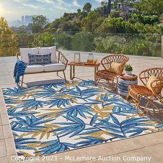 Elements Indoor/Outdoor Area Rug Belize Blue - Rug Size : 7 ft. 10 in. x 10 ft. - BRAND NEW