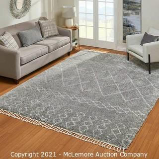 Zurich Rug Collection Moroccan Gray - Rug Size : 5 ft. 3 in. x 7 ft. 5 in. - Brand New