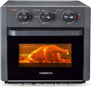 WEESTA Air Fryer Toaster Oven - 5-In-1 Convection Oven with Air Fry Roast Toast Broil & Bake Function - Air Fry Toaster Oven for Countertop - Kitchen Appliances for Cooking Chicken Steak & Pizza