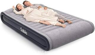 Sable Queen Size Air Mattresses with Built-in Electric Pump Inflatable Air Bed