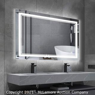 BBE 36x28 Inch LED Bathroom Mirror Vanity Mirror with Dimmable Light