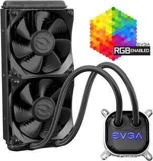 EVGA CLC 240mm All-In-1 RGB LED CPU Liquid Cooler 2x FX12 120mm PWM Fans Intel AMD 400-HY-CL24-V1