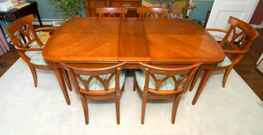 Dining Room Table And Six Chairs By Drexel