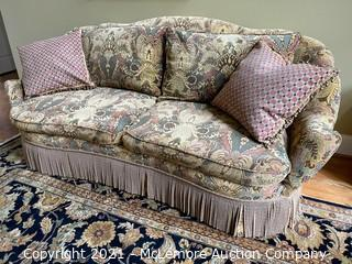 Upholstered Settee by Century of Hickory, NC