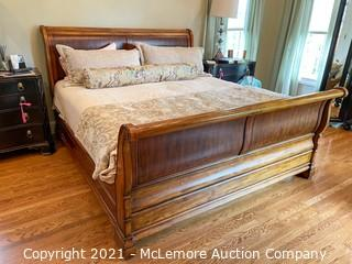 King-Size Sleigh Bed Frame from Ethan Allen
