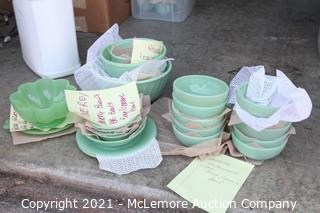 Fire King Jadeite Collection and Fenton Candy and Platter