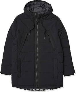 Marc New York by Andrew Marc Men's Holden Hooded Parka Jacket  Black  X-Large