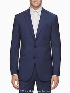 Calvin Klein Men's Slim Fit Suit Separates  Solid Navy  42 Regular