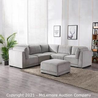 Belize 6-Piece Fabric Modular Sectional - Light Gray - BRAND NEW - $1399 - SEE LINK