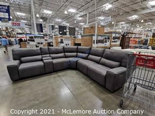 Sweeney 6-Piece Fabric Power Reclining Sectional -  2 Power Outlets / 4 USB Ports / Storage Console / Stainless Cup holders  - NEW - $2299 - See Link