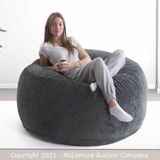 Oversized Jumbo Lounger  - Gray - Oversized Bag Chair - Plush Fabric with comfort for up to two people - See Link  - Brand New - $129
