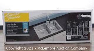 Montvale 33x22 Stainless Steel Kitchen Sink with Faucet- NEW - MSRP $189