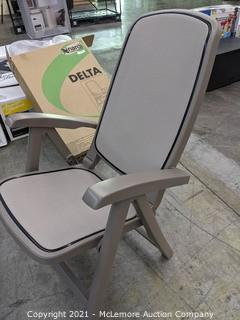 Delta Reclining High Back Chair   - Made in Italy - 5 reclining positions - NEW