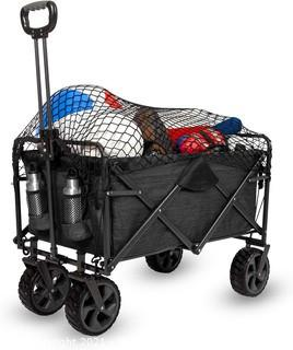 Mac Sports XL Folding Wagon with Cargo Net  Gray - $105 on Amazon - SEE LINK! Great Reviews - Open Box New