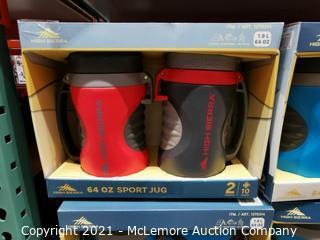 High Sierra 64oz Max-Hydrate Sport Jugs  2-pack