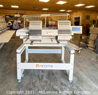 2017 Ricoma MT-1502 Computerized Embroidery Machine - Removed from Basement of Fire Damaged Building - Has Been Wet - Powers On