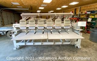 2016 Ricoma CHT-1506 Computerized Embroidery Machine - Removed from Basement of Fire Damaged Building - Has Been Wet - Powers On