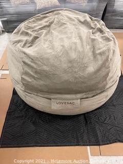 The SUPER SIZE Sac Slipcover- Taupe Padded Velvet - 100% Polyester, Machine Washable