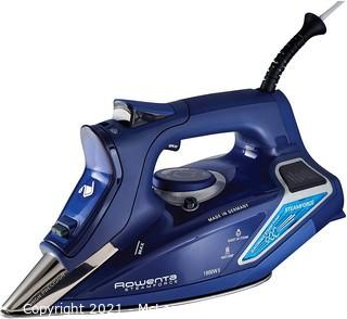 Rowenta DW9280 Digital Display Steam Iron.   Stainless Steel Soleplate.   1800-Watt.   400-Hole.   Blue