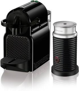 Nespresso Inissia Espresso Maker with Aeroccino Milk Frother by De'Longhi.   Black