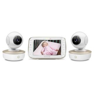 Motorola Video Baby Monitor - 2 Wide Angle HD Cameras with Infrared Night Vision and Remote Pan.   Tilt.   Zoom - 5-Inch LCD Color Display with Split Screen View.   Room Temperature and Sound Alert MBP50-G2